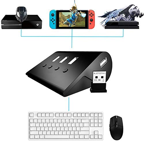 Amazon Com Tico Nico Keyboard And Mouse Adapter For Nintendo Switch Ps4 Xbox One Ps3 Xbox 360 Updated Version Video Games