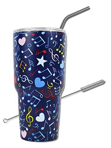Music Note Gift 30Oz Stainless Steel Tumbler, KnitPopShop, Travel Vacuum Insulate Cup Men Women Mom Teacher Fan Lovers Mug]()