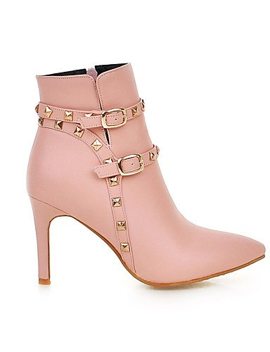 Eu36 femme Stiletto Beige Bottines Xzz Rivets Disponibles De Plus Éclair Fermeture Chaussures us6 Talon Bout Pointu Cn36 Uk4 Couleurs SqAHadwA