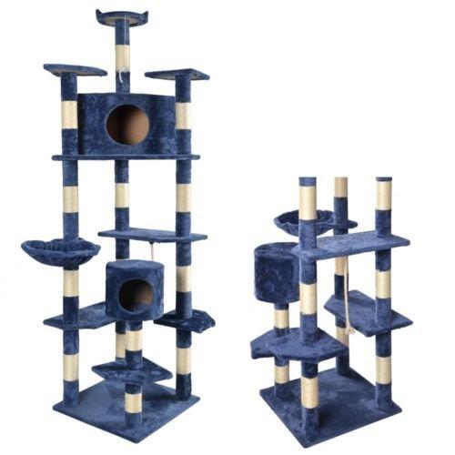 New Navy Blue Cat Tree Condo Furniture Scratching Post Pet