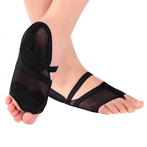 UPRIVER GALERIE Vorfuß Pads Half Lyrical Schuhe Schuhe Fitness für Tanz Schwarz