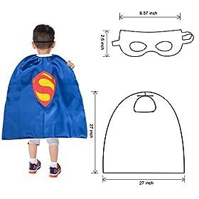 - 41XKXSts 2BRL - YOHEER Dress Up Costume Set of Superhero Satin Capes with Felt Masks for Kids