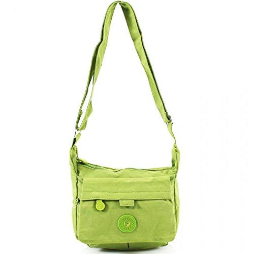 Para mujer Unisex Mini luz peso Cross Body Messenger Tote bolso bandolera bolso de mano para el hombro niñas verde