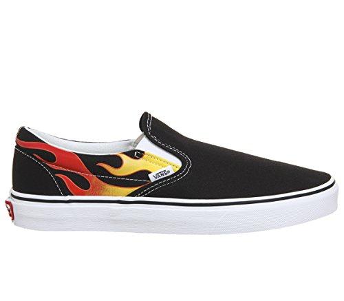 Vans Old Skool Skate Shoe (13.5 Women 12 Men M Us, (Flame) Blackblacktrue White 7206)