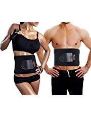 Waist Trimmer, Sportneer Adjustable Neoprene Waist Trainer Belt for Back Support, Weight Loss Wrap, Sweat Enhancer, Body Slimmer, Stomach and Back Lumbar Support, Fits Up to 42 Inches, for Men & Women