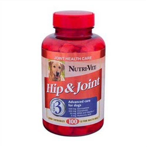 Nutri-Vet Veterinarian Strength Hip and Joint Maximum Chewable Tablets for Dogs, 90 Count, My Pet Supplies