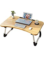 Laptop desk for bed lap desks bed trays for eating and laptops stand lap table adjustable computer tray for bed foldable bed desk for laptop and writing in sofa and couch (Mahogany)