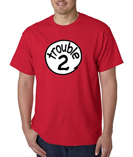New Way 722   Unisex T Shirt Trouble 2 Two Dr Seuss Thing Parody Xl Red