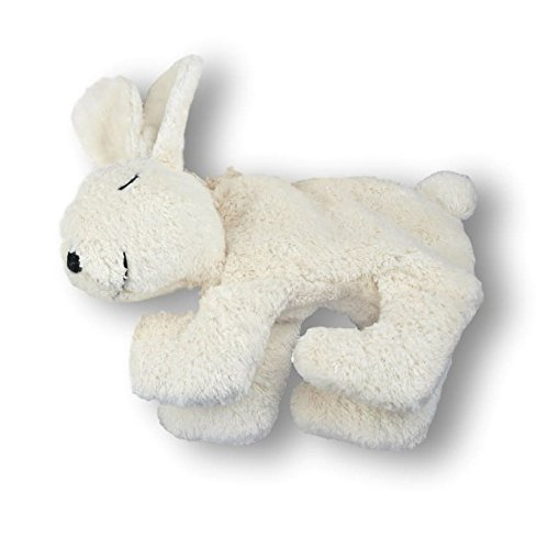 Senger Stuffed Animal - Bunny Rabbit with Cherry Stones - Handmade 100% Organic Cotton (White - 11 Inches Tall) ()
