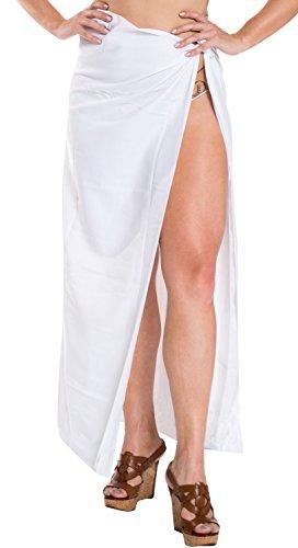 traje de baño traje de baño de envoltura de ropa de playa pareo pareo encubrir mujeres que se bañan traje blanco