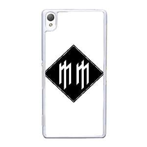 caja del teléfono celular Funda Sony Xperia Z3 funda blanca Marilyn Manson logo F0J7XM