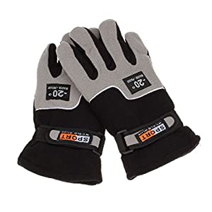 Fleece Winter Gloves Men, Lowprofile Windproof Men's Winter Thinsulate Thermal Warm Snow Skiing Snowboarding Snowmobile Ski Gloves (Black)