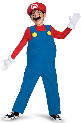 Disguise Super Mario Boys Deluxe Costume 10-12
