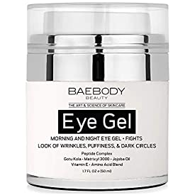 Baebody Eye Gel for Appearance of Dark Circles, Puffiness, Wrinkles and Bags. – for Under and Around Eyes – 1.7 fl oz.