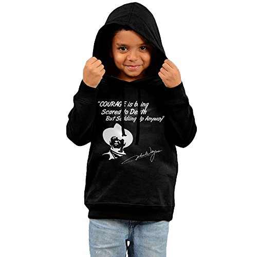 Cowboy Hat Hoodies For Children Without Kangaroo Pocket Black 4 Toddler