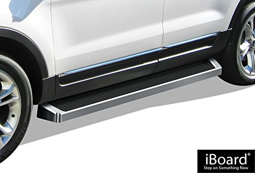 APS iBoard (Silver Running Board Style) Running Boards | Nerf Bars | Side Steps | Step Rails for 2011-2019 Ford Explorer Sport Utility 4-Door