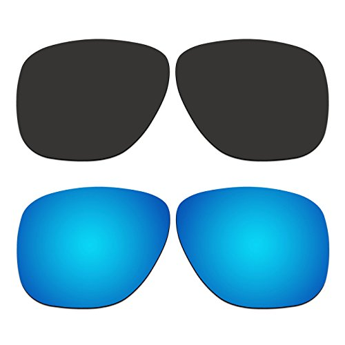 2 Pair ACOMPATIBLE Replacement Polarized Lenses for Oakley Crossrange XL Sunglasses OO9360 Pack - Lenses Replacement Crossrange Oakley