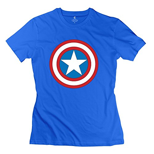 PTYS Women's Tees Captain America Logo Size M RoyalBlue