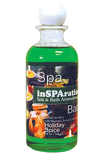 inSPAration Spa and Bath Aromatherapy 100HOLHSX Spa Liquid, 9-Ounce, Holiday Spice (Spice Spa)