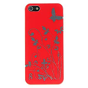 HP DF Butterfly Pattern Plastic Case for iPhone 5 , Black