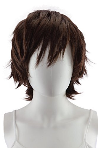 Epic Cosplay Apollo Dark Brown Short Wig 13 Inches (33DB) -