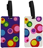 Travelon One Size Luggage Tags Inner Circles - Assorted, Set of 2