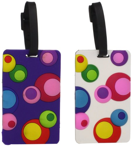 Travelon Set Of 2 Luggage Tags Inner Circles Assorted