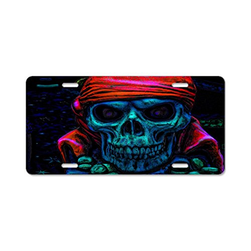 CafePress - Dead Pirate Aluminum License Plate - Aluminum License Plate, Front License Plate, Vanity Tag