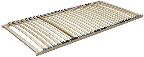 Estable somier Basic fijo con 28 listones de madera de abedul 100 x 200 cm