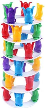 minansostey Kids Educational Toys Collapse Building Blocks Balance Penguin Challenge Tower