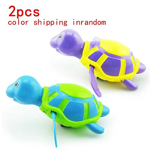 2 Pcs Baby&Child Floating Bath Fun Toys,Floating Wind-up Swimming Turtle Baby Play Chain Animal Toys Summer Toy For Kids Child Pool Bath Toy ,for within 3-36 - Usps 1 Day Shipping Price