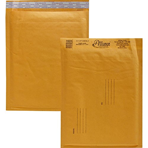 Alliance Rubber Air Bubble - Envelopes,No. 2,Self Sealing,Bubble Cushioned,8-1/4