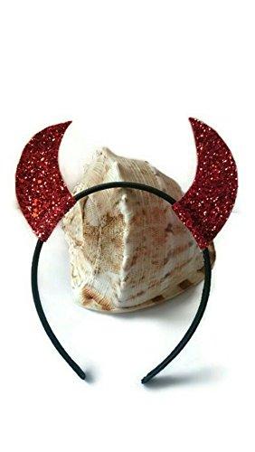 Sparkly Sequinned Devil Horns Headband