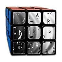 Rubiks Cube by DAIYU Black and White Music Notes 3x3 Smooth Magic Square Puzzle Game Brain Training Game for Adults Kids