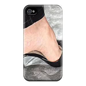 Chenzong Iphone 4/4s Well-designed Hard Case Cover Black On Grey Protector