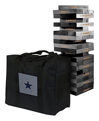 NFL Dallas Cowboys Dallas Onyx Stained Giant Wooden Tumble Tower Game, Multicolor, One Size by Victory Tailgate