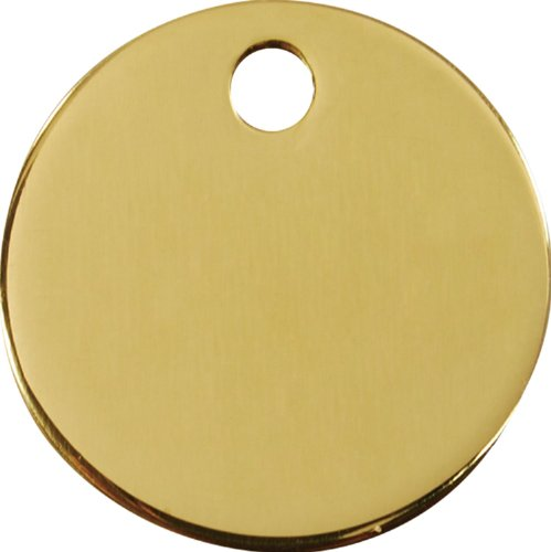 PUNK HOLLOW COUNTRY KENNEL Red Dingo~Flat Brass, Dog, Cat, Pet I.D. Tag - Circle (Large - 1.5