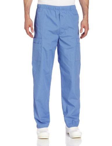 Medical Landau Scrub - Landau Men's Cargo Scrub Pant, Ceil Blue, X-Large