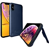 "ANJ Wireless Premium iPhone XR Cases with Hidden Kickstand | Dual Layer Bumper Case for Extra Protection | Slim and Stylish Design for iPhone Phone Case 6.1"" (Blue)"