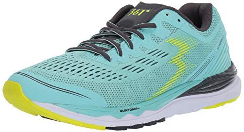 361 Women's Meraki 2 Running Shoe, Aruba Blue/Ebony 5 B US