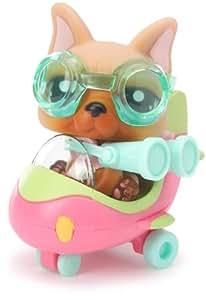 Hasbro Littlest Pet Shop Mini vehículos Perro y avión - Mascota con vehículo de juguete
