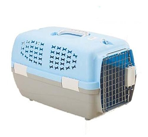 blueE-S JYB Pet carrier box cat cage portable pet shipping dog air box out Dog Crate , bluee , s