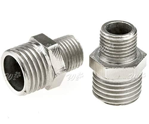 2pcs Airbrush Adaptor Kit Fitting Connector Set Compressor + Airbrush Hose ()