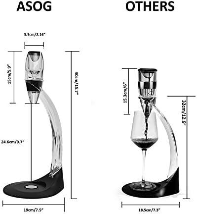 Aireador de vino Decantador de vino ASOG jarra decantadora de vino con juego de torre, juego de regalo ideal