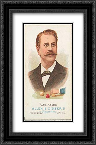 s - Allen & Ginter 2x Matted 16x24 Black Ornate Framed Museum Art Print - Frank B. Yank Adams, Billiard Player, from World's Champions, Series 1 (N28) for Allen & Ginter Cigarettes ()