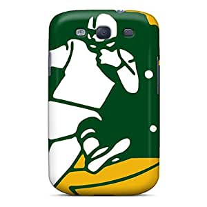 PhilHolmes Samsung Galaxy S3 Shock-Absorbing Hard Cell-phone Case Unique Design High Resolution Green Bay Packers Pattern [MWR8257CtJi]