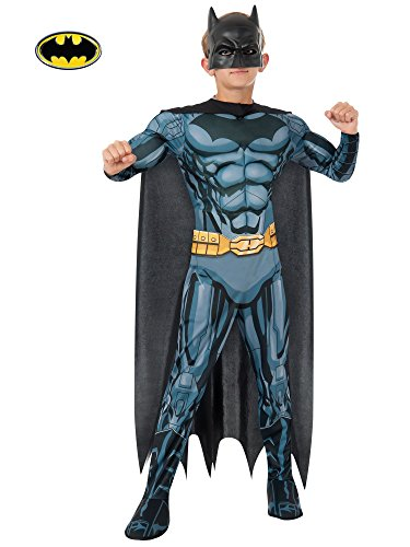 Rubies DC Comics Deluxe Muscle-Chest Batman Costume, Child -