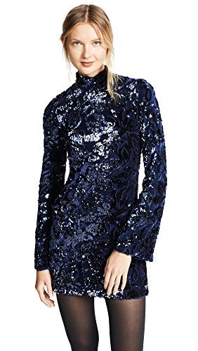 Alexis Women's Rhapsody Dress, Navy, Blue, Floral, Metallic, Small