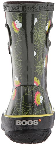 Bogs Kids' Skipper Waterproof Rubber Rain Boot for Boys and Girls,Smiley Spiders/Dark Green/Multi,11 M US Little Kid by Bogs (Image #2)