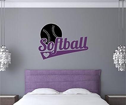 amazon com enchantingly elegant softball sports decor vinyl decal